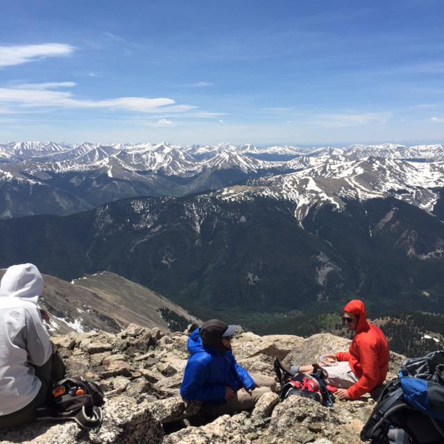 14erAdventureWeekend-guides-on-summit-of-Mt-Yale-June20-21