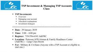TSP Investment Managing TSP Accounts Class PPT Slide