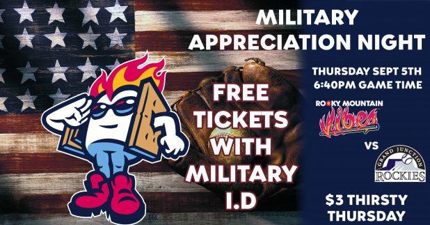 Last Free Baseball Game, September 5 - 21 FSS - Peterson Air